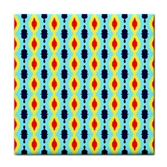 Yellow Chains Pattern Tile Coaster by LalyLauraFLM