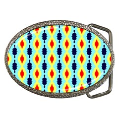 Yellow Chains Pattern Belt Buckle