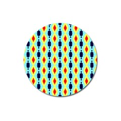 Yellow Chains Pattern Magnet 3  (round) by LalyLauraFLM