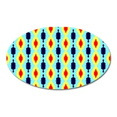 Yellow Chains Pattern Magnet (oval) by LalyLauraFLM