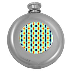 Yellow Chains Pattern Hip Flask (5 Oz) by LalyLauraFLM