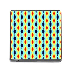 Yellow Chains Pattern Memory Card Reader With Storage (square) by LalyLauraFLM