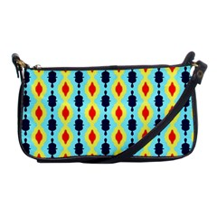 Yellow Chains Pattern Shoulder Clutch Bag by LalyLauraFLM