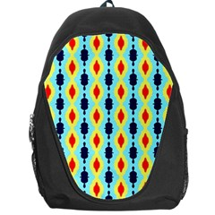 Yellow chains pattern Backpack Bag by LalyLauraFLM