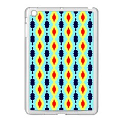 Yellow Chains Pattern Apple Ipad Mini Case (white) by LalyLauraFLM