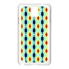 Yellow Chains Pattern Samsung Galaxy Note 3 N9005 Case (white) by LalyLauraFLM