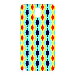 Yellow Chains Pattern Samsung Galaxy Note 3 N9005 Hardshell Back Case by LalyLauraFLM