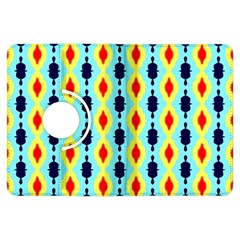 Yellow Chains Pattern Kindle Fire Hdx Flip 360 Case by LalyLauraFLM