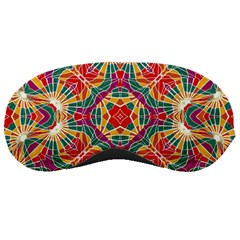 Multicolor Geometric Print Sleeping Mask by dflcprints