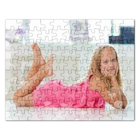 Puzzel   Little Girl In Pink By Pamela Sue Goforth   Jigsaw Puzzle (rectangular)   Uiryicqp4dij   Www Artscow Com Front