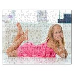 Puzzel   little girl in Pink - Jigsaw Puzzle (Rectangular)