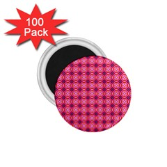 Abstract Pink Floral Tile Pattern 1 75  Button Magnet (100 Pack) by creativemom