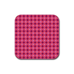 Abstract Pink Floral Tile Pattern Drink Coaster (square) by creativemom