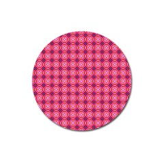 Abstract Pink Floral Tile Pattern Magnet 3  (round) by creativemom
