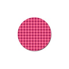 Abstract Pink Floral Tile Pattern Golf Ball Marker 4 Pack by creativemom