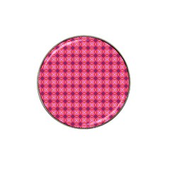 Abstract Pink Floral Tile Pattern Golf Ball Marker 10 Pack (for Hat Clip) by creativemom