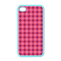 Abstract Pink Floral Tile Pattern Apple Iphone 4 Case (color) by creativemom