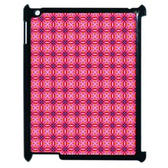 Abstract Pink Floral Tile Pattern Apple Ipad 2 Case (black) by creativemom