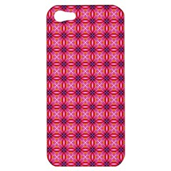 Abstract Pink Floral Tile Pattern Apple Iphone 5 Hardshell Case by creativemom