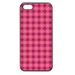 Abstract Pink Floral Tile Pattern Apple Iphone 5 Seamless Case (black) by creativemom