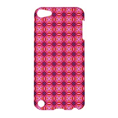 Abstract Pink Floral Tile Pattern Apple Ipod Touch 5 Hardshell Case by creativemom