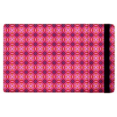 Abstract Pink Floral Tile Pattern Apple Ipad 3/4 Flip Case by creativemom