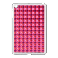 Abstract Pink Floral Tile Pattern Apple Ipad Mini Case (white) by creativemom