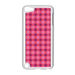 Abstract Pink Floral Tile Pattern Apple Ipod Touch 5 Case (white) by creativemom