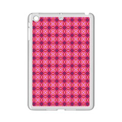 Abstract Pink Floral Tile Pattern Apple Ipad Mini 2 Case (white) by creativemom