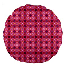 Abstract Pink Floral Tile Pattern 18  Premium Round Cushion  by creativemom