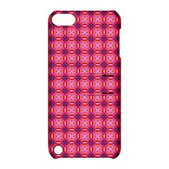 Abstract Pink Floral Tile Pattern Apple Ipod Touch 5 Hardshell Case With Stand by creativemom