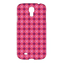 Abstract Pink Floral Tile Pattern Samsung Galaxy S4 I9500/i9505 Hardshell Case by creativemom