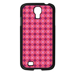 Abstract Pink Floral Tile Pattern Samsung Galaxy S4 I9500/ I9505 Case (black) by creativemom