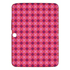 Abstract Pink Floral Tile Pattern Samsung Galaxy Tab 3 (10 1 ) P5200 Hardshell Case  by creativemom