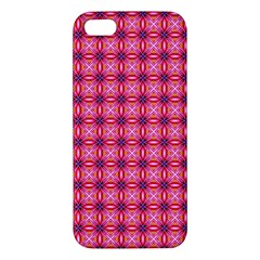 Abstract Pink Floral Tile Pattern Iphone 5s Premium Hardshell Case by creativemom