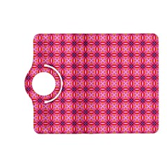 Abstract Pink Floral Tile Pattern Kindle Fire Hd (2013) Flip 360 Case by creativemom