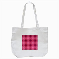 Abstract Pink Floral Tile Pattern Tote Bag (white) by creativemom