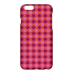 Abstract Pink Floral Tile Pattern Apple Iphone 6 Plus Hardshell Case by creativemom