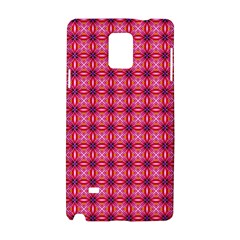 Abstract Pink Floral Tile Pattern Samsung Galaxy Note 4 Hardshell Case by creativemom