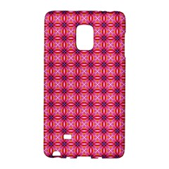 Abstract Pink Floral Tile Pattern Samsung Galaxy Note Edge Hardshell Case by creativemom
