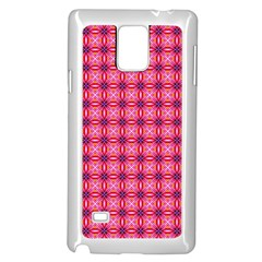 Abstract Pink Floral Tile Pattern Samsung Galaxy Note 4 Case (white) by creativemom