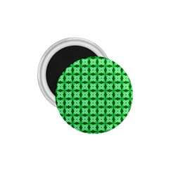 Green Abstract Tile Pattern 1 75  Button Magnet by creativemom