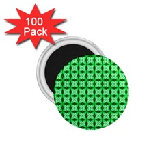 Green Abstract Tile Pattern 1 75  Button Magnet (100 Pack) by creativemom