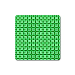 Green Abstract Tile Pattern Magnet (square) by creativemom