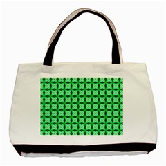 Green Abstract Tile Pattern Classic Tote Bag by creativemom