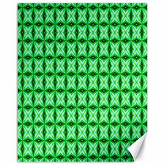 Green Abstract Tile Pattern Canvas 16  X 20  (unframed) by creativemom