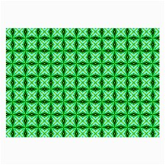 Green Abstract Tile Pattern Glasses Cloth (large, Two Sided) by creativemom