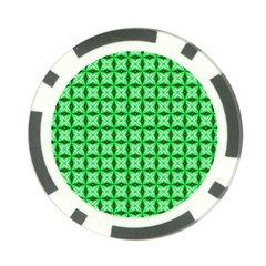 Green Abstract Tile Pattern Poker Chip by creativemom