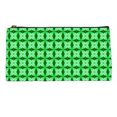 Green Abstract Tile Pattern Pencil Case