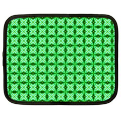 Green Abstract Tile Pattern Netbook Sleeve (xxl) by creativemom